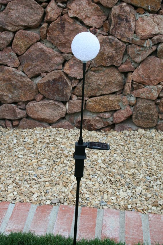 Gazing Ball Solar Stick Light Yardbright Landscape