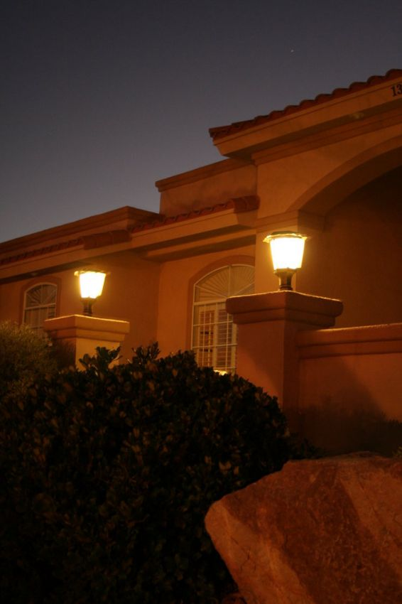 Solar fence light image 3
