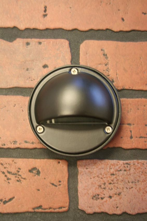 Black Round Surface Light Yardbright Landscape Lighting
