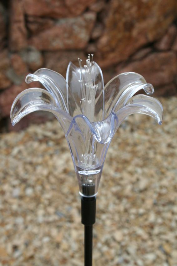 Lily Solar Stake Light Yardbright Landscape Lighting