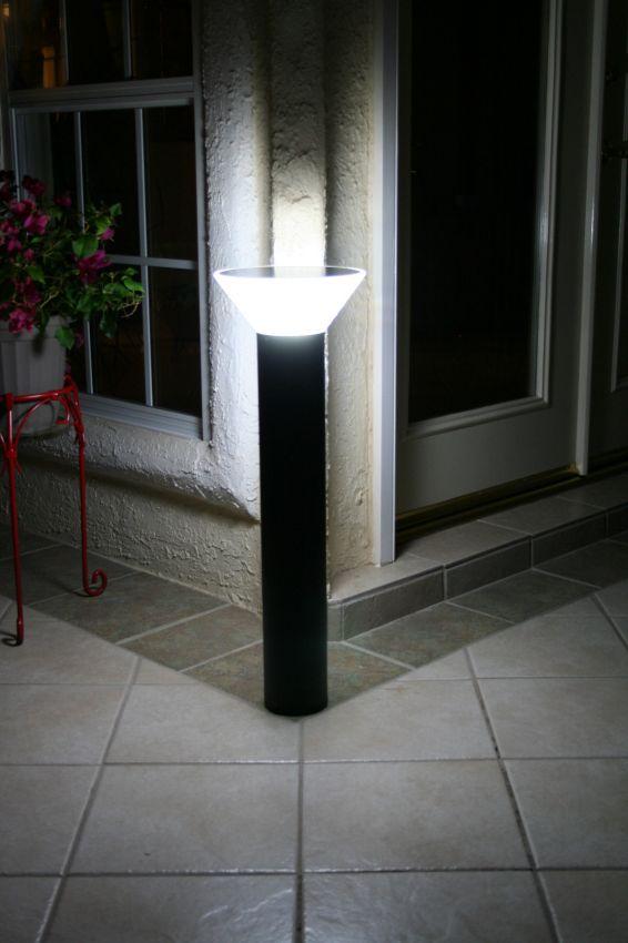 Premium Modern Solar Bollard Light Yardbright Landscape
