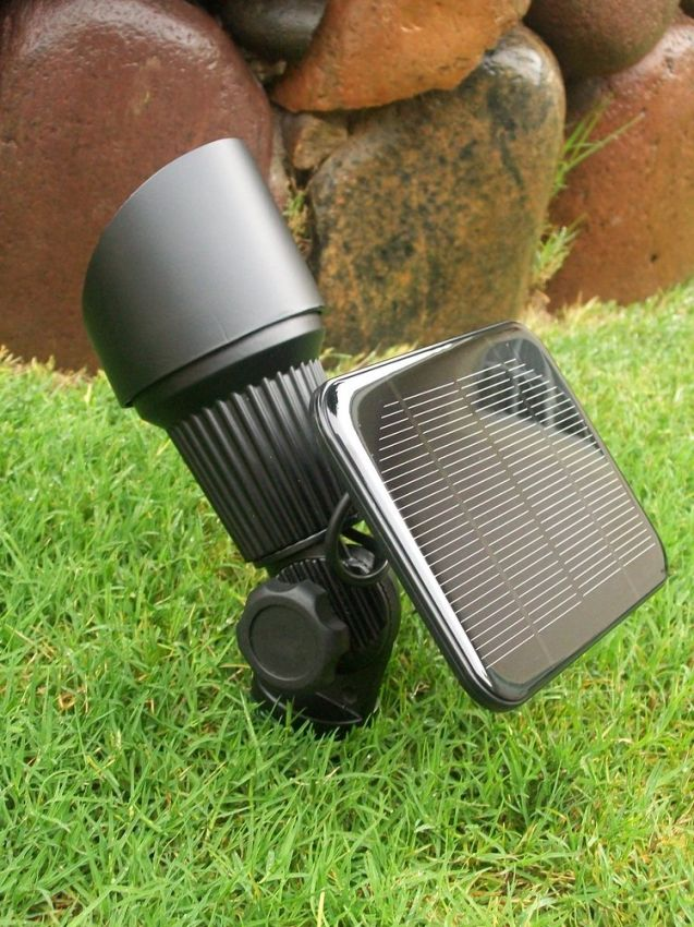 White high output solar spot light yardbright landscape lighting white high output solar spot light mozeypictures Choice Image