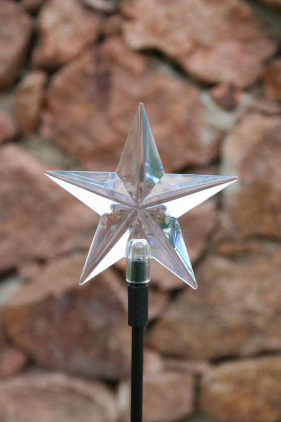 5 Point Star Solar Stake Light