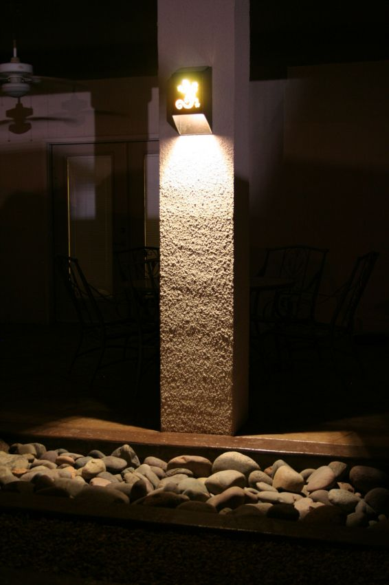 Solar Sconce Yardbright Landscape Lighting Garden