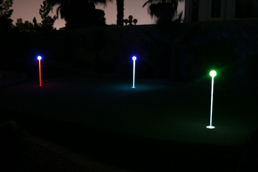 Color Changing Putting Green Lights 4 Pack Yardbright