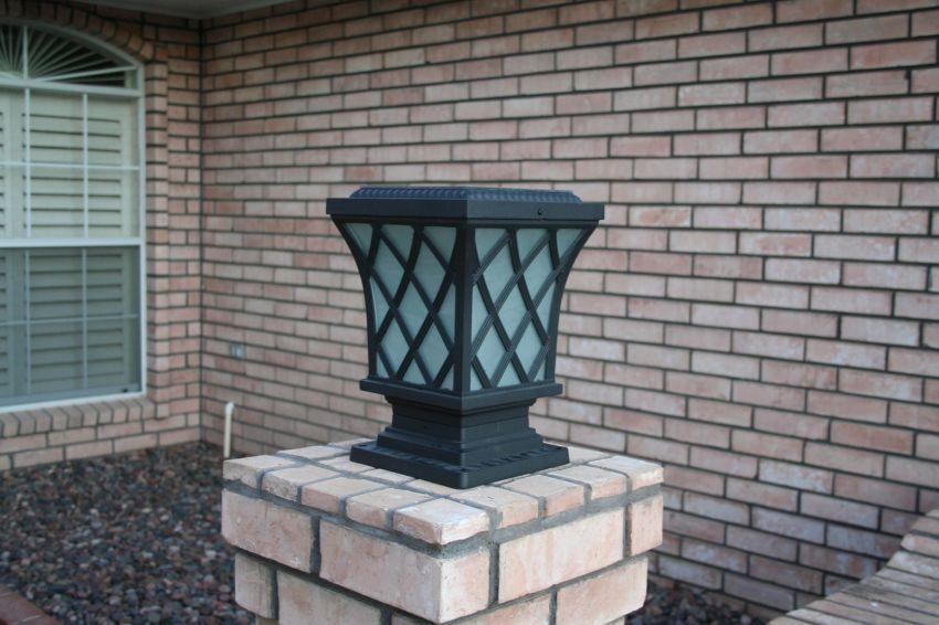 Premium Classic Solar Pillar Light In Black Yardbright