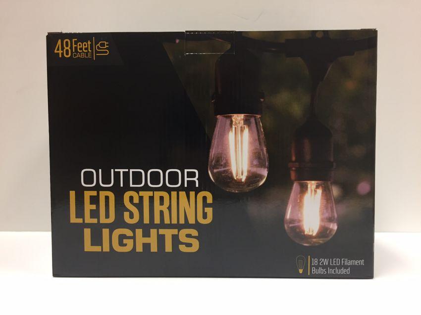 120v outdoor indoor led bistro string lights yardbright